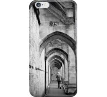 Lonely walk around Winchester Cathedral iPhone Case/Skin