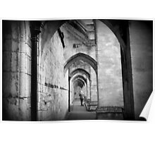 Lonely walk around Winchester Cathedral Poster