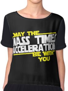 May the Mass times Acceleration be with you Chiffon Top
