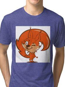 Little red squirrel Tri-blend T-Shirt