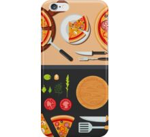 Pizza on the Plate and Ingredients for Pizza iPhone Case/Skin