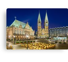 Bremen At Night Canvas Print
