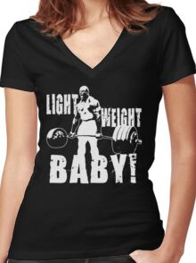 Light Weight Baby! (Ronnie Coleman) Women's Fitted V-Neck T-Shirt