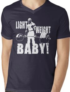 Light Weight Baby! (Ronnie Coleman) Mens V-Neck T-Shirt