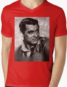 Cary Grant by MB Mens V-Neck T-Shirt
