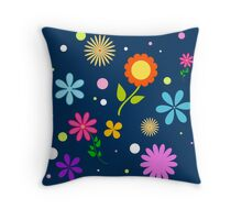 pattern of flowers Throw Pillow