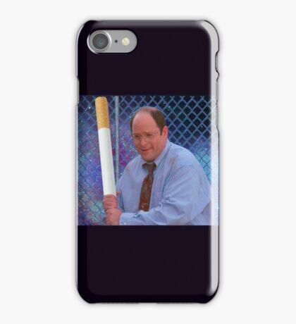 George Costanza cigarette bat vaporwave 420 iPhone Case/Skin