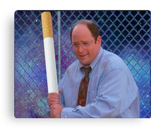 George Costanza cigarette bat vaporwave 420 Canvas Print