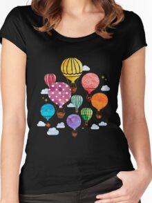 Hot Air Balloon Women's Fitted Scoop T-Shirt