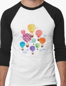 Hot Air Balloon Men's Baseball ¾ T-Shirt