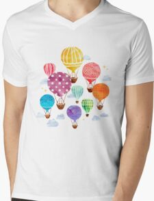 Hot Air Balloon Mens V-Neck T-Shirt