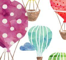 Hot Air Balloon Night Sticker
