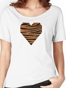 0599 Ruddy Brown Tiger Women's Relaxed Fit T-Shirt