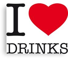 I ♥ DRINKS Canvas Print