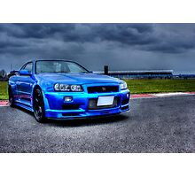Nissan Skyline in HDR Photographic Print