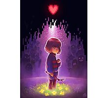 Frisk Undertale Photographic Print
