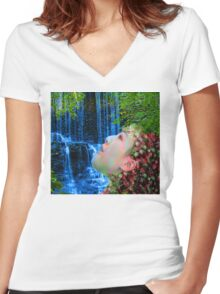 Fountain of Youth  Women's Fitted V-Neck T-Shirt