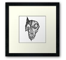 Bad Fox Skull Rotten Framed Print