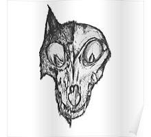 Bad Fox Skull Rotten Poster