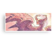 red moon dragon Canvas Print