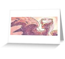red moon dragon Greeting Card