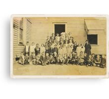 """""""THROWBACK: A 1917 One Room Schoolhouse""""... prints and products Canvas Print"""