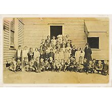 """THROWBACK: A 1917 One Room Schoolhouse""... prints and products Photographic Print"