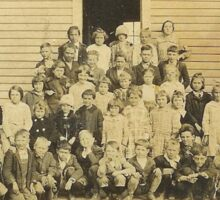 """""""THROWBACK: A 1917 One Room Schoolhouse""""... prints and products Sticker"""