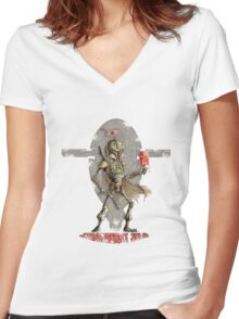 Strawberry Solo Women's Fitted V-Neck T-Shirt