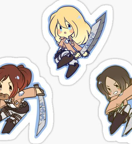 SnK Sasha, Ymir, Krista Sticker