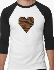 0605 Saddle Brown Tiger Men's Baseball ¾ T-Shirt