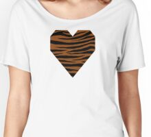 0605 Saddle Brown Tiger Women's Relaxed Fit T-Shirt