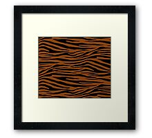 0605 Saddle Brown Tiger Framed Print
