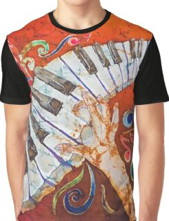 Crazy Fingers Piano Batik by Sue Duda Graphic T-Shirt