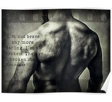 I´m not brave anymore Poster