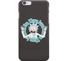 rick iPhone Case/Skin