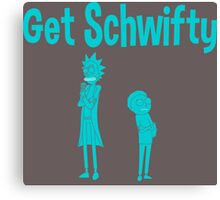rick and morty blue Canvas Print