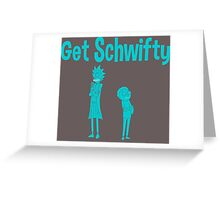 rick and morty blue Greeting Card
