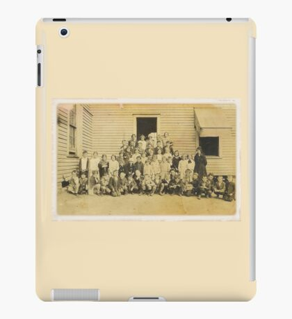 """""""THROWBACK: A 1917 One Room Schoolhouse""""... prints and products iPad Case/Skin"""
