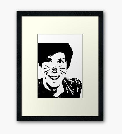Black and White Phil Framed Print