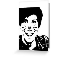 Black and White Phil Greeting Card