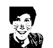 Black and White Phil Photographic Print