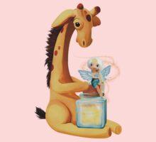 Fairy and Giraffe  One Piece - Short Sleeve
