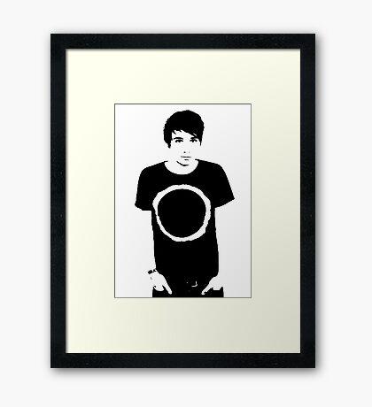 Black and White Dan Framed Print
