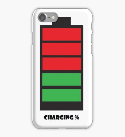Charging % iPhone Case/Skin