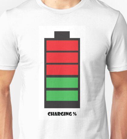 Charging % Unisex T-Shirt