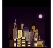 ABSTRACT CITYSCAPE: CHOCOLATE HAZE Photographic Print