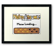 Neko Atsume Loading Screen Framed Print