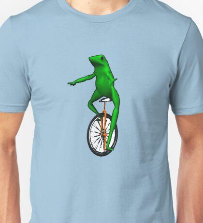 dat boi frog unicycle me_irl meme Unisex T-Shirt