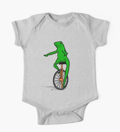 Dat Boi Unicycle Frog T-Shirt One Piece - Short Sleeve